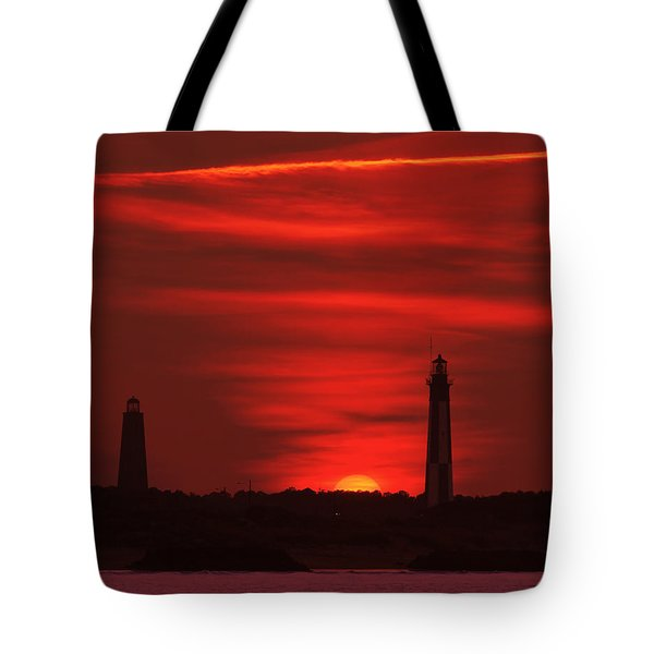 Cape Henry Lighthouses  Tote Bag