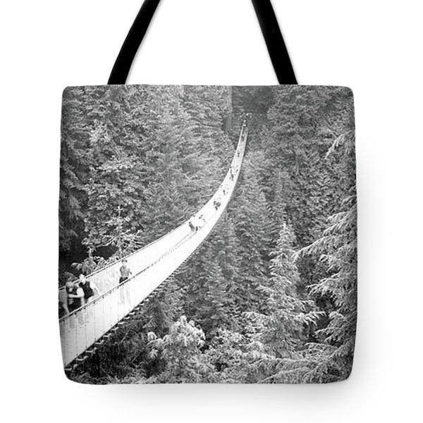 Capilano Bridge, Suspended Walk Tote Bag