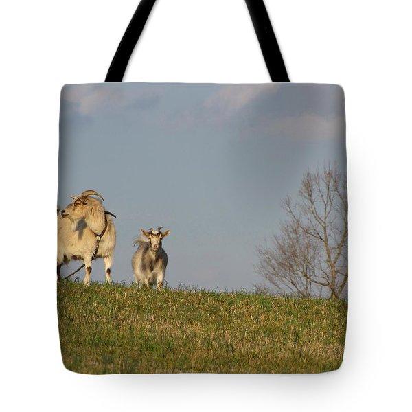 Caprine Hill Tote Bag by Matt Taylor