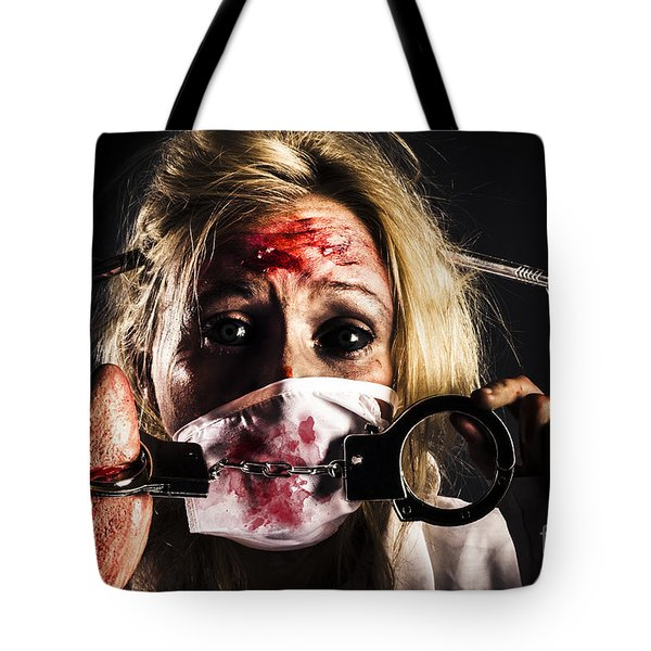 Cardiac Arrest From Horror Health Care Tote Bag