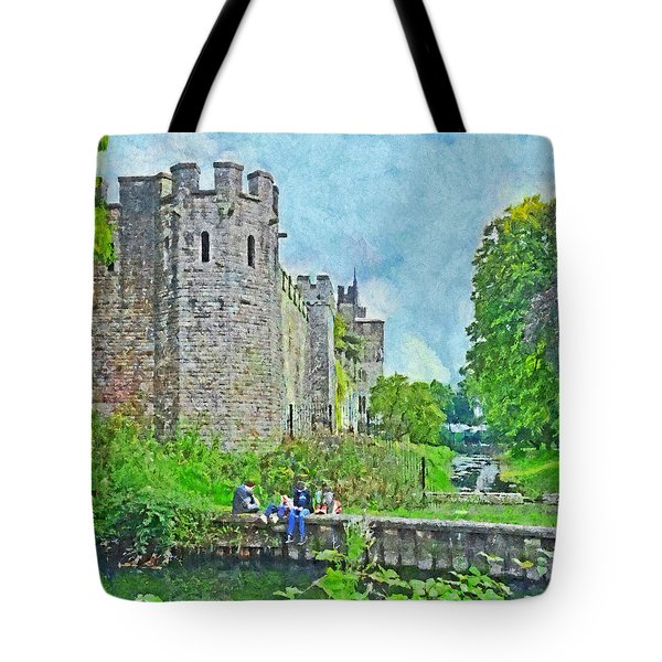 Cardiff Castle And Bute Park Tote Bag