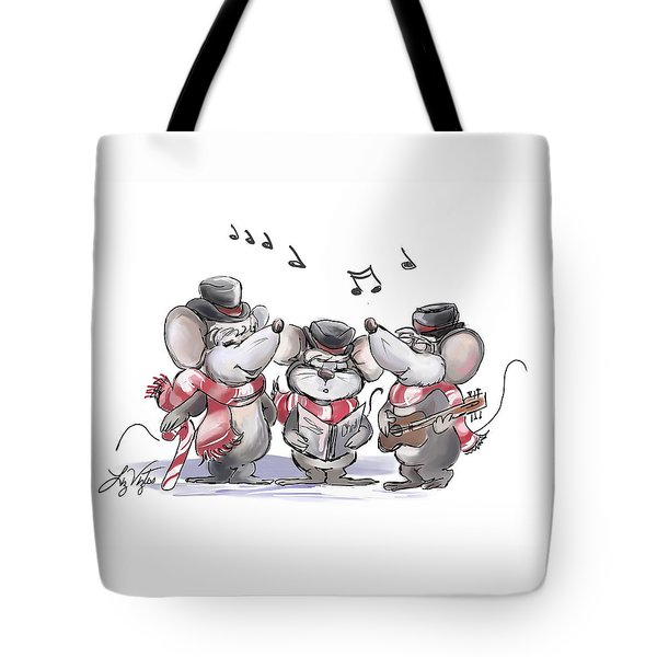 Caroling With Mic Mac And Moe Tote Bag