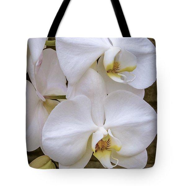 Cascade Of White Orchids Tote Bag