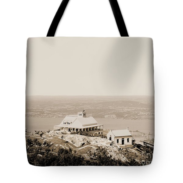 Casino At The Top Of Mt Beacon In Sepia Tone Tote Bag