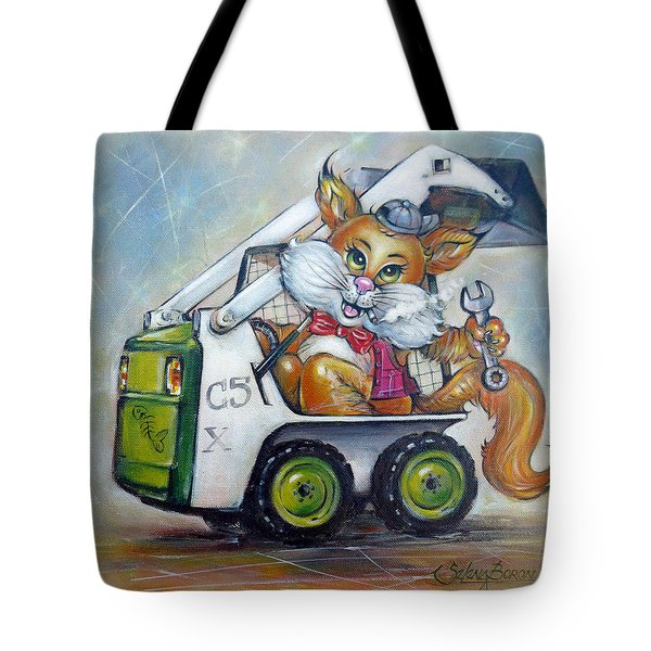 Cat C5x 190312 Tote Bag