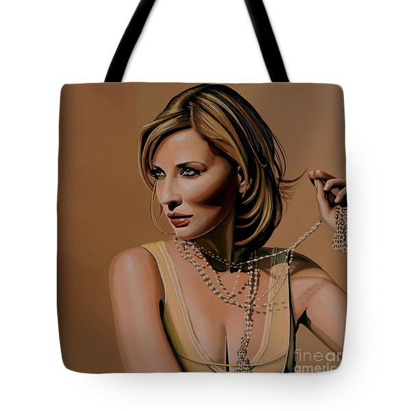 Cate Blanchett Painting  Tote Bag