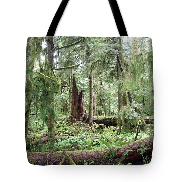 Tote Bag featuring the photograph Cathedral Grove by Marilyn Wilson