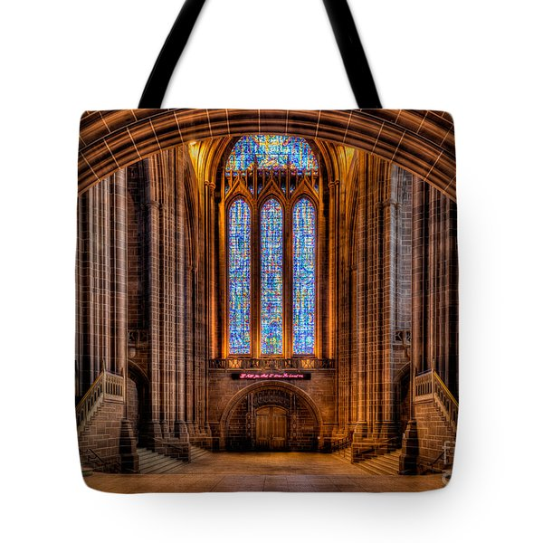 Cathedral Window Tote Bag by Adrian Evans