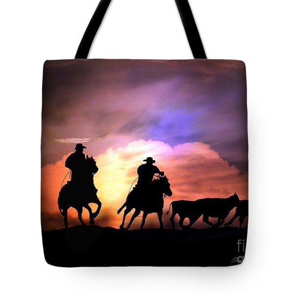 Cattle Drive Tote Bag by Stephanie Laird