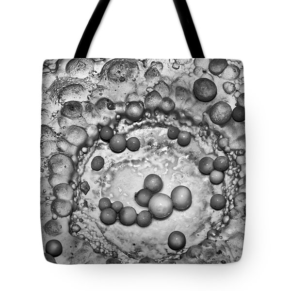 Cave Pearls In Black And White Tote Bag by Melany Sarafis