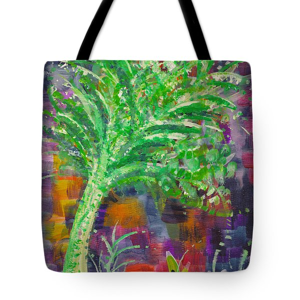 Tote Bag featuring the painting Celery Tree by Holly Carmichael