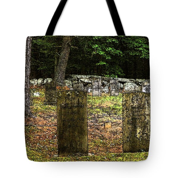 Cemetery Tote Bag by Mim White