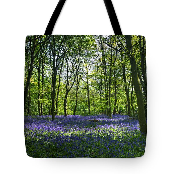 Chalet Wood Wanstead Park Bluebells Tote Bag by David French