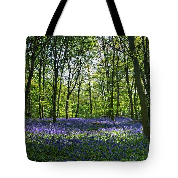 Chalet Wood Wanstead Park Bluebells Tote Bag