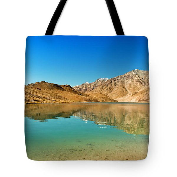 Chandratal Lake Tote Bag