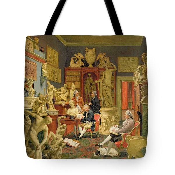 Charles Townley And His Friends Tote Bag by Johann Zoffany