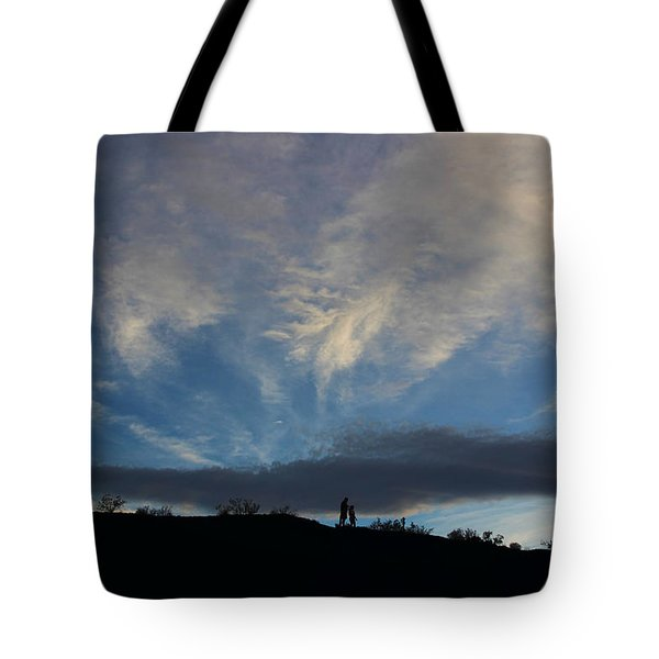 Tote Bag featuring the photograph Chase The Moonlight by Tammy Espino
