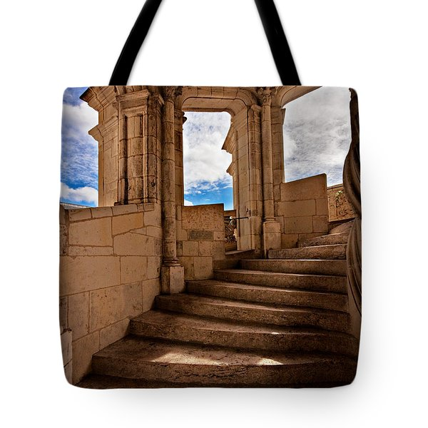 Chateau De Blois Staircase / Loire Valley Tote Bag