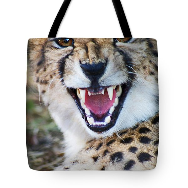 Cheetah With Attitude Tote Bag
