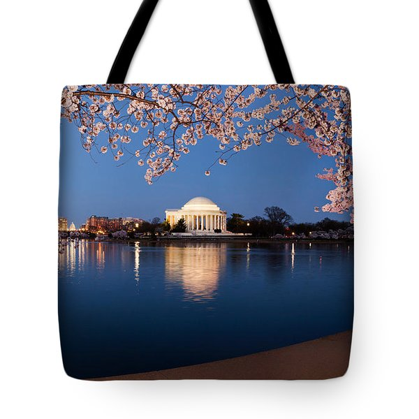 Cherry Blossom Tree With A Memorial Tote Bag