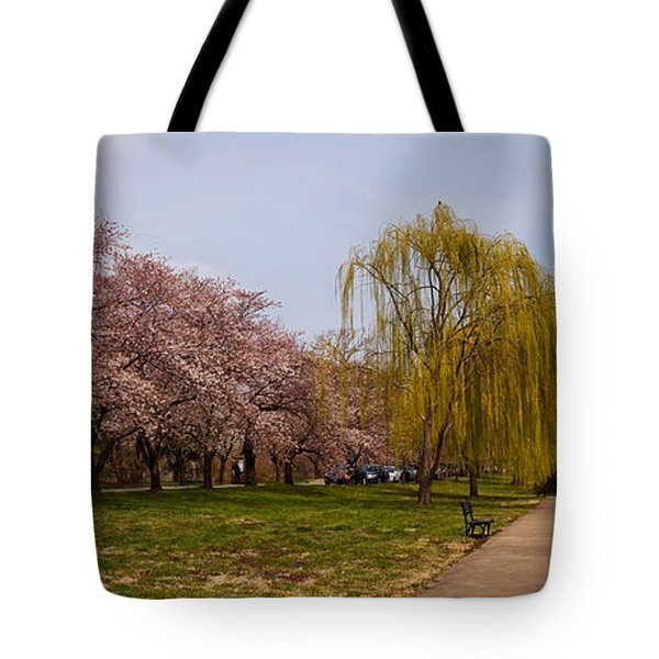 Cherry Blossom Trees In Potomac Park Tote Bag