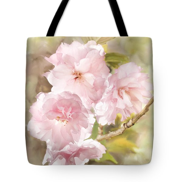 Cherry Blossoms Tote Bag by Francesa Miller