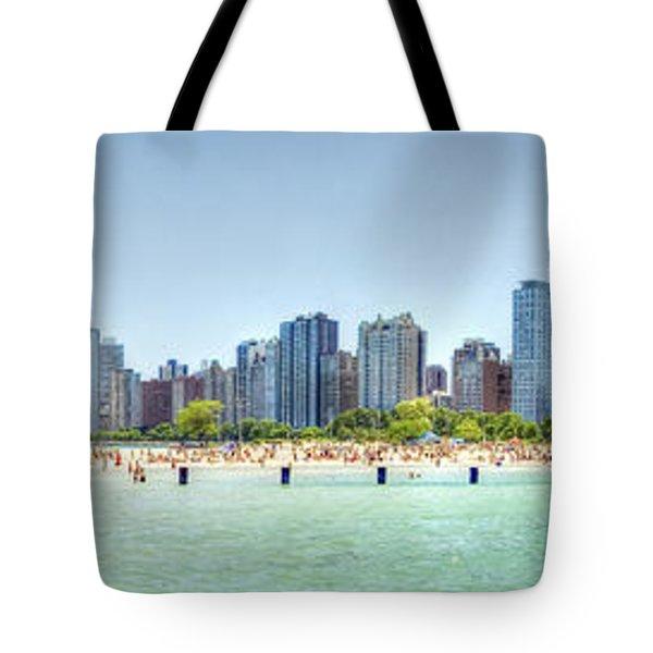 Chicago North Avenue Beach Tote Bag by Patrick  Warneka