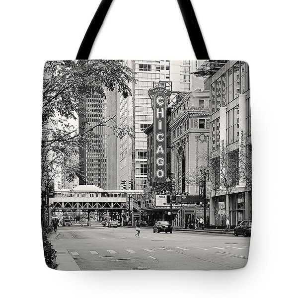 Chicago Theatre - French Baroque Out Of A Movie Tote Bag by Christine Till