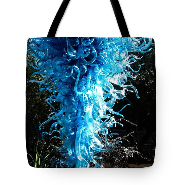 Chihuly In Blue Tote Bag by Menachem Ganon