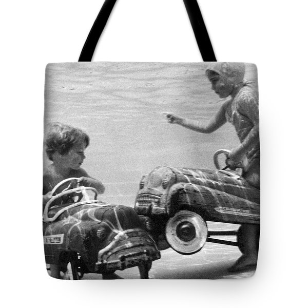 Children Playing Under Water Tote Bag