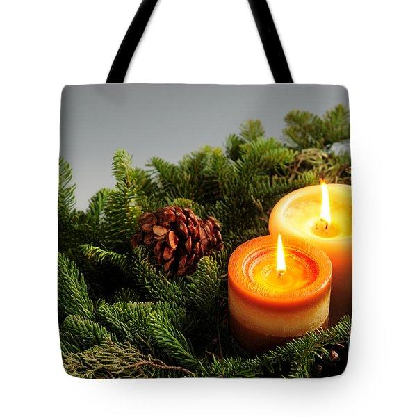 Christmas Candles Tote Bag by Elena Elisseeva