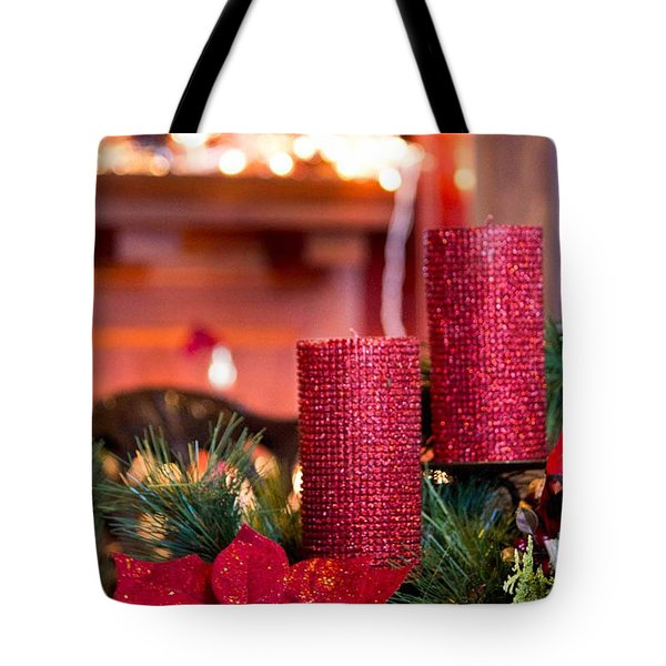 Christmas Candles Tote Bag by Patricia Babbitt