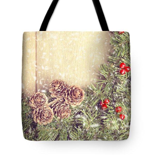 Christmas Garland Tote Bag by Amanda Elwell