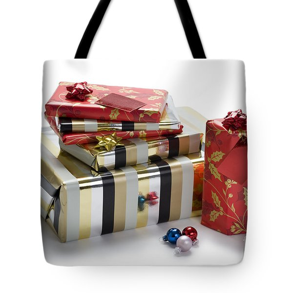 Tote Bag featuring the photograph Christmas Gifts by Lee Avison