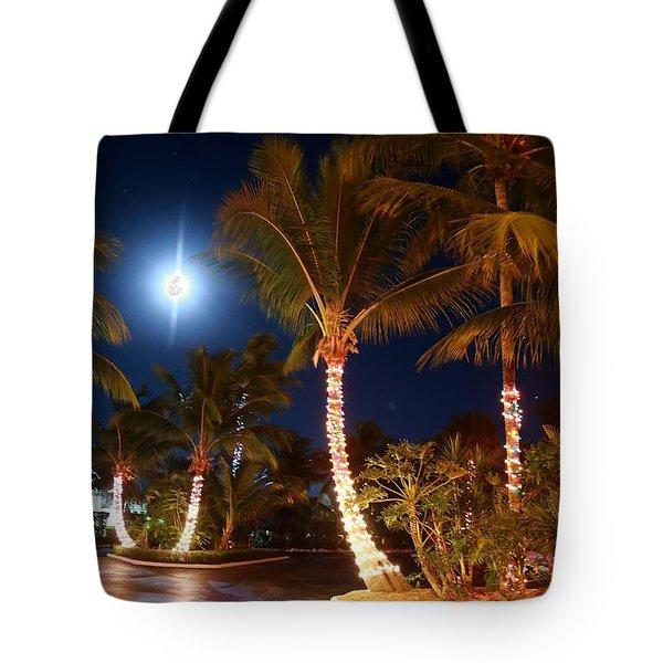 Christmas Palms Tote Bag