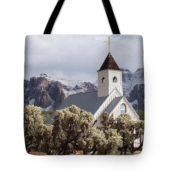 Elvis Presley Chapel Tote Bag