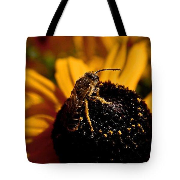 Circling Tote Bag by Rona Black