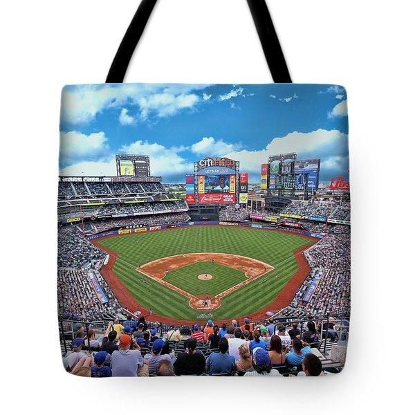 Citi Field 2 - Home Of The N Y Mets Tote Bag