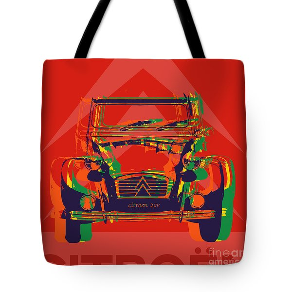 Citroen 2cv Tote Bag by Jean luc Comperat