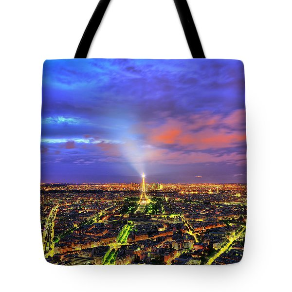 City Of Lights Tote Bag by Midori Chan
