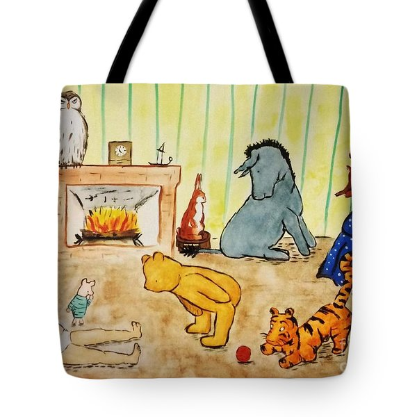 Classic Winnie The Pooh And Friends Tote Bag