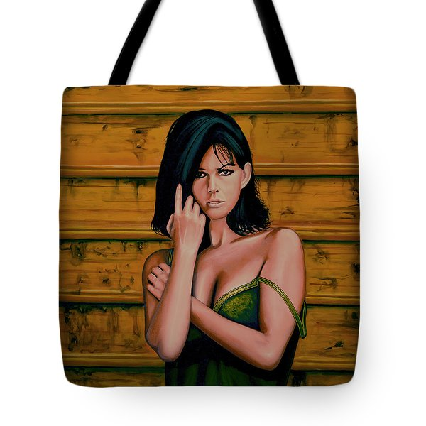 Claudia Cardinale Painting Tote Bag