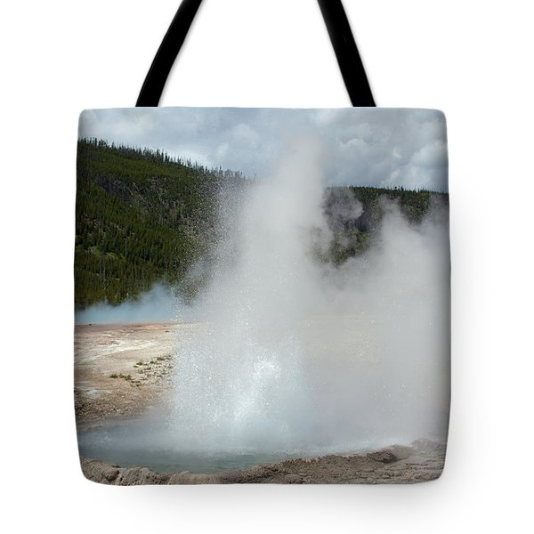 Cliff Geyser Tote Bag