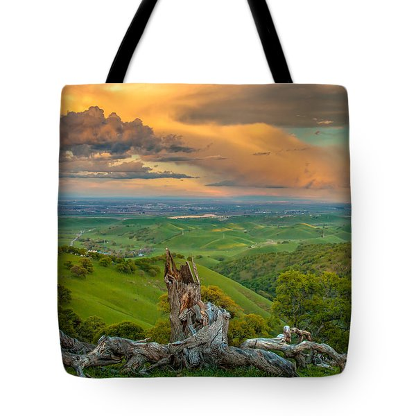 Clouds Over Central Valley At Sunset Tote Bag