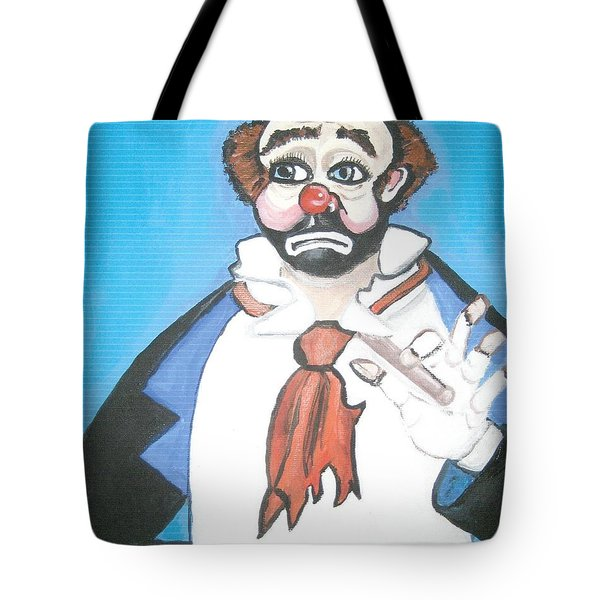 Tote Bag featuring the painting Clown by Nora Shepley