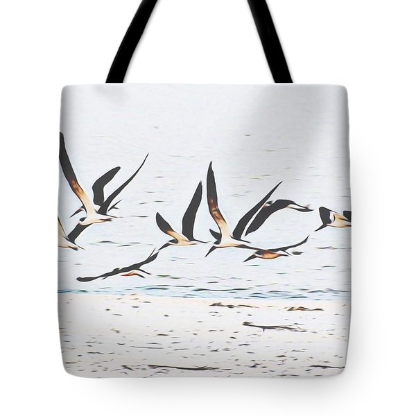 Coastal Skimmers Tote Bag