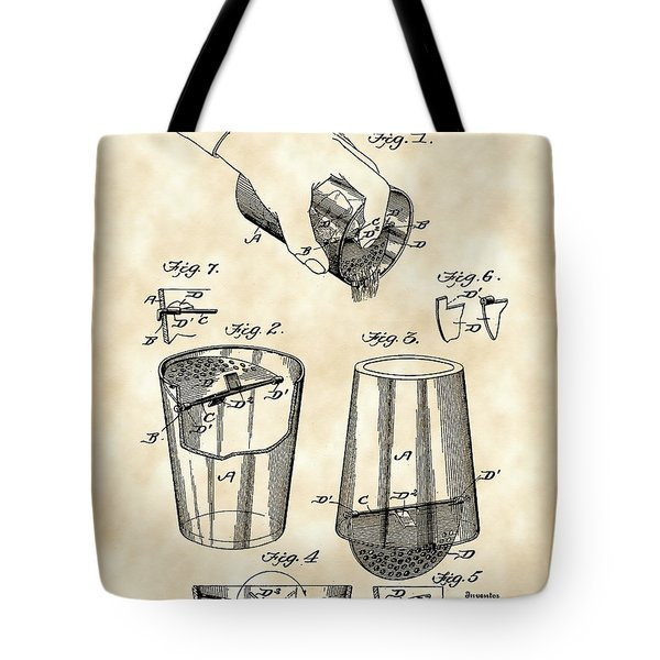 Cocktail Mixer And Strainer Patent 1902 - Vintage Tote Bag