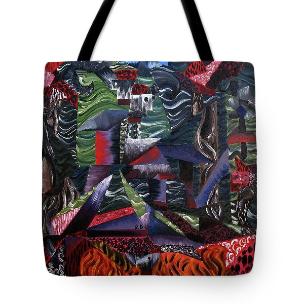 Tote Bag featuring the painting Cocytemensia by Ryan Demaree
