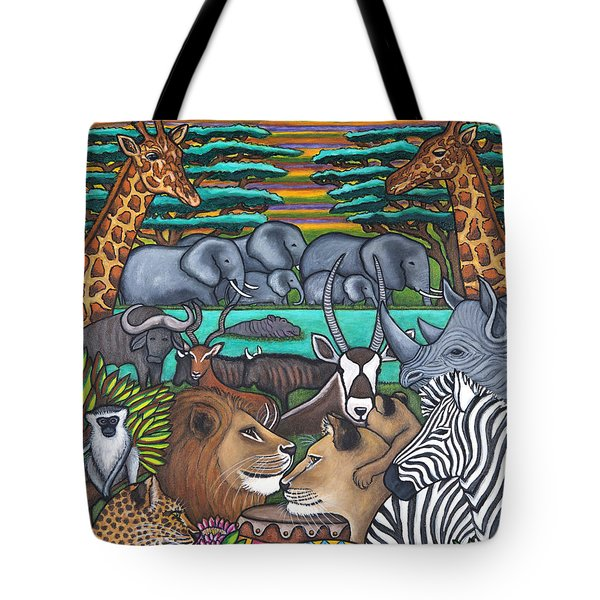 Colours Of Africa Tote Bag