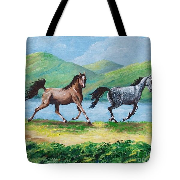 Colt And Mare Tote Bag